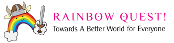 rainbow quest game logo website