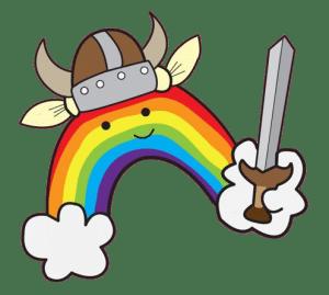 rainbow quest viking logo, game, LGBTQ+, liaison, graphics