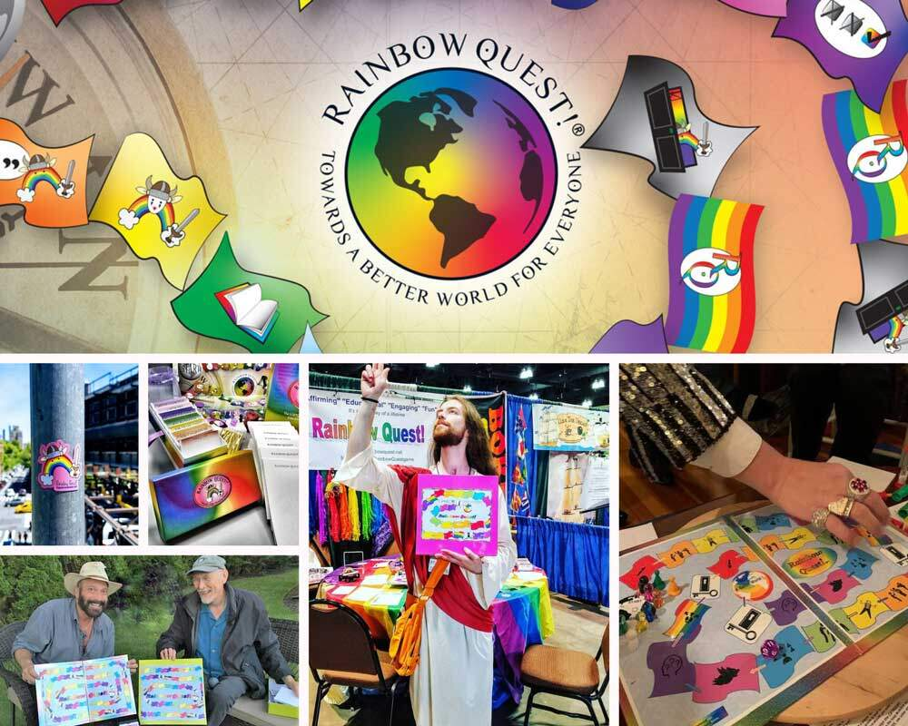 rainbow quest collage