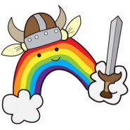 rainbow quest viking logo